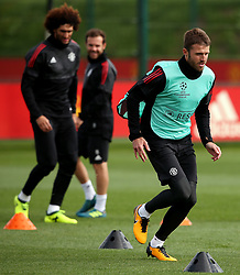 Michael Carrick of Manchester United trains - Mandatory by-line: Matt McNulty/JMP - 11/09/2017 - FOOTBALL - AON Training Complex - Manchester, England - Manchester United v FC Basel - Press Conference & Training - UEFA Champions League - Group A