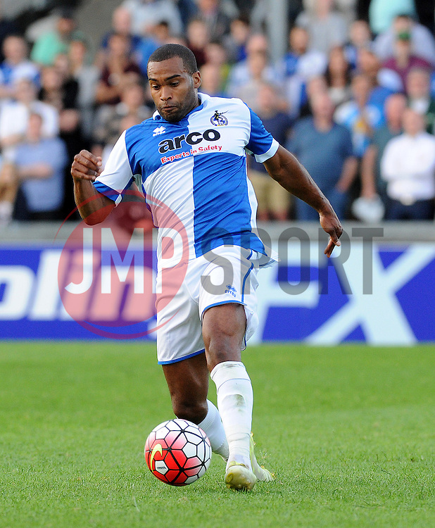Bristol Rovers Jermaine Easter - Mandatory by-line: Neil Brookman/JMP - 07966386802 - 31/07/2015 - SPORT - FOOTBALL - Bristol,England - Memorial Stadium - Bristol Rovers v West Brom - Pre-Season Friendly