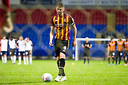 Bradford City defender Paudie O'Connor prepares to take the penalty for the penalty shoot-out during the EFL Trophy match between Bolton Wanderers and Bradford City at the University of  Bolton Stadium, Bolton, England on 3 September 2019.