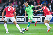 Matty Kosylo of Halifax Town (7) in action during the Vanarama National League match between Salford City and FC Halifax Town at Moor Lane, Salford, United Kingdom on 14 August 2018.