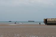 France Normandy, Arromanches beach, remain of world war 2