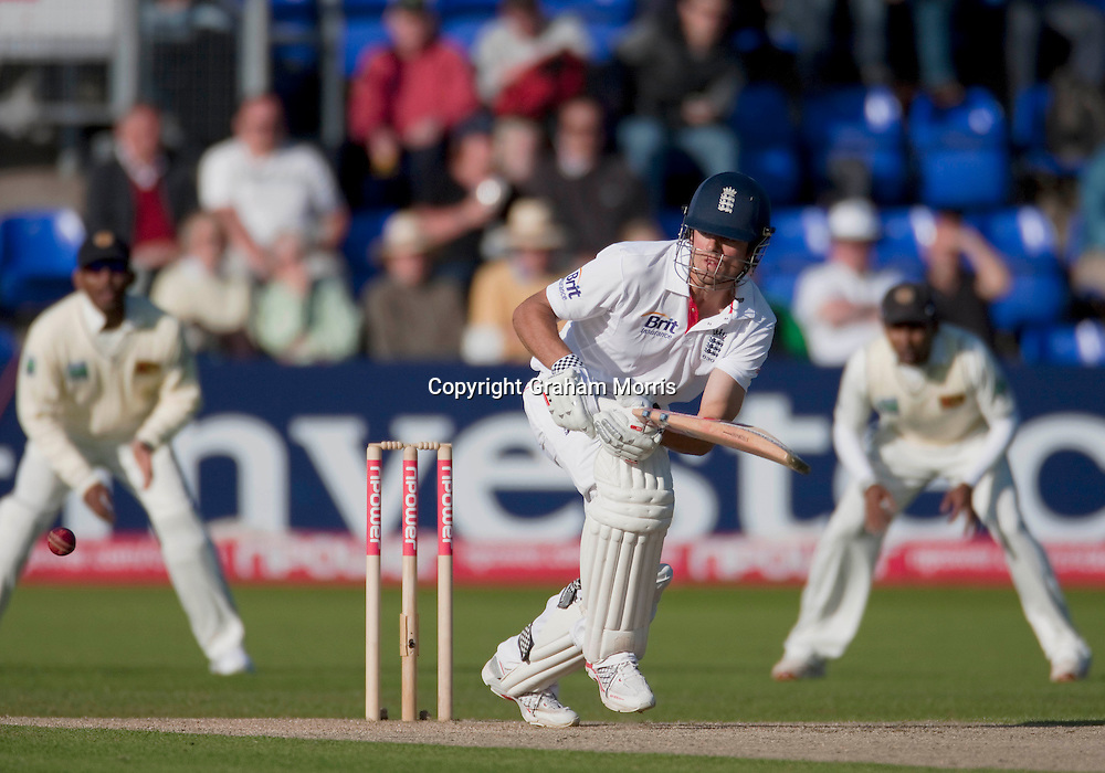 Alastair Cook bats during his century in the first npower Test Match between England and Sri Lanka at the SWALEC Stadium, Cardiff.  Photo: Graham Morris (Tel: +44(0)20 8969 4192 Email: sales@cricketpix.com) 27/05/11