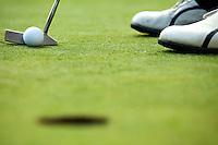 A golf club on a golf course