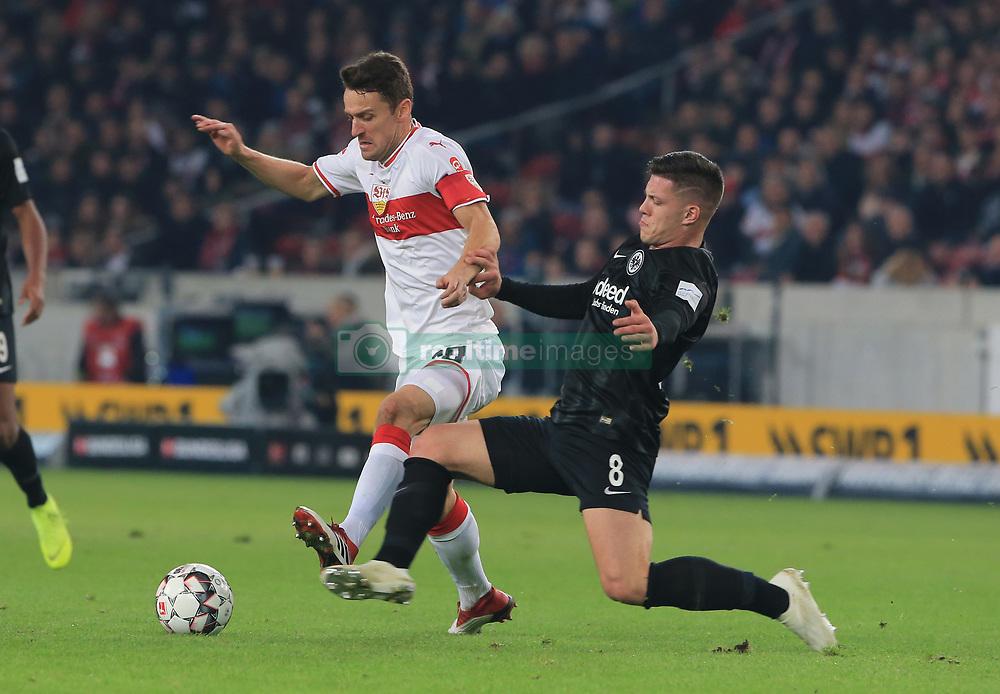 02.11.2018, 1. BL, VfB Stuttgart vs Eintracht Frankfurt, Mercedes Benz Arena Stuttgart, Fussball, Sport, im Bild:...Christian Gentner (VFB Stuttgart) vs Luka Jovic (Eintracht Frankfurt)..DFL REGULATIONS PROHIBIT ANY USE OF PHOTOGRAPHS AS IMAGE SEQUENCES AND / OR QUASI VIDEO...Copyright: Philippe Ruiz..Tel: 089 745 82 22.Handy: 0177 29 39 408.e-Mail: philippe_ruiz@gmx.de. (Credit Image: © Philippe Ruiz/Xinhua via ZUMA Wire)
