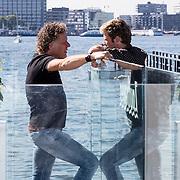 NLD/Amsterdam/20160823 - Seizoenpresentatie SBS 2016, Kees van der Spek in gesprek met Tim Douwsma