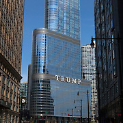 Trump International Hotel and Tower Chicago. High rise building owned by the Trump Organization. <br /> Photography by Jose More
