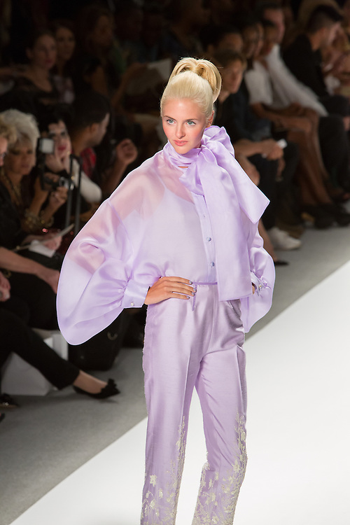 Lilac jumpsuit. By Zang Toi, shown at his Spring 20132 Fashion Week show in New York.