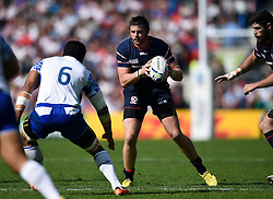 Zach Fenoglio of the USA in possession - Mandatory byline: Patrick Khachfe/JMP - 07966 386802 - 20/09/2015 - RUGBY UNION - Brighton Community Stadium - Brighton, England - Samoa v USA - Rugby World Cup 2015 Pool B.