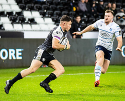 Luke Morgan of Ospreys<br /> <br /> Photographer Simon King/Replay Images<br /> <br /> Guinness PRO14 Round 8 - Ospreys v Cardiff Blues - Saturday 21st December 2019 - Liberty Stadium - Swansea<br /> <br /> World Copyright © Replay Images . All rights reserved. info@replayimages.co.uk - http://replayimages.co.uk