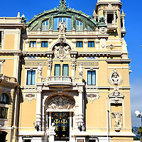 Op&eacute;ra de Monte-Carlo Prince&rsquo;s Entrance in Monte Carlo, Monaco <br />
