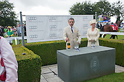 ROWAN ATKINSON; THE COUNTESS OF MARCH, Ladies Day, Glorious Goodwood. Goodwood. August 2, 2012
