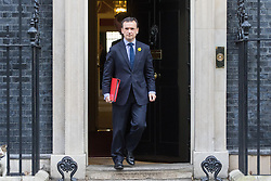 Downing Street, London, February 28th 2017. Welsh Secretary Alun Cairns leaves the weekly cabinet meeting at 10 Downing Street in London.