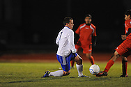 Oxford High's Ty Barber (7) vs. Lafayette High in boys high school soccer action at Bobby Holcomb Field in Oxford, Miss. on Monday, December 10, 2012. Oxford won 8-0.