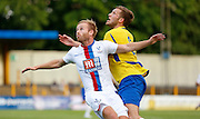 Barry Bannan preparring for the incoming ball during the Pre-Season Friendly match between St Albans FC and Crystal Palace at Clarence Park, St Albans, United Kingdom on 21 July 2015. Photo by Michael Hulf.