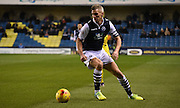 Steve Morison on the turn during the Johnstone's Paint Trophy semi final first leg match between Millwall and Oxford United at The Den, London, England on 14 January 2016. Photo by Michael Hulf.