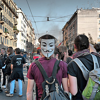 Rome Protest turns into Violence
