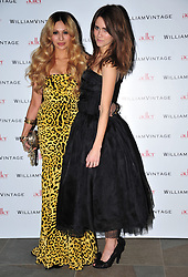 © Licensed to London News Pictures. 10/02/2012. London, England. Zara Martin and Jade Williams attends a private dinner ahead of sundays Bafta awards hosted by William Banks-Blaney of WilliamVintage and actress Gillian Anderson at St Pancras Renaissance Hotel London  Photo credit : ALAN ROXBOROUGH/LNP