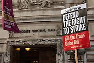 2 Nov 2015 - Trade Unionists lobby MP's as Parliament debates new Union Bill.
