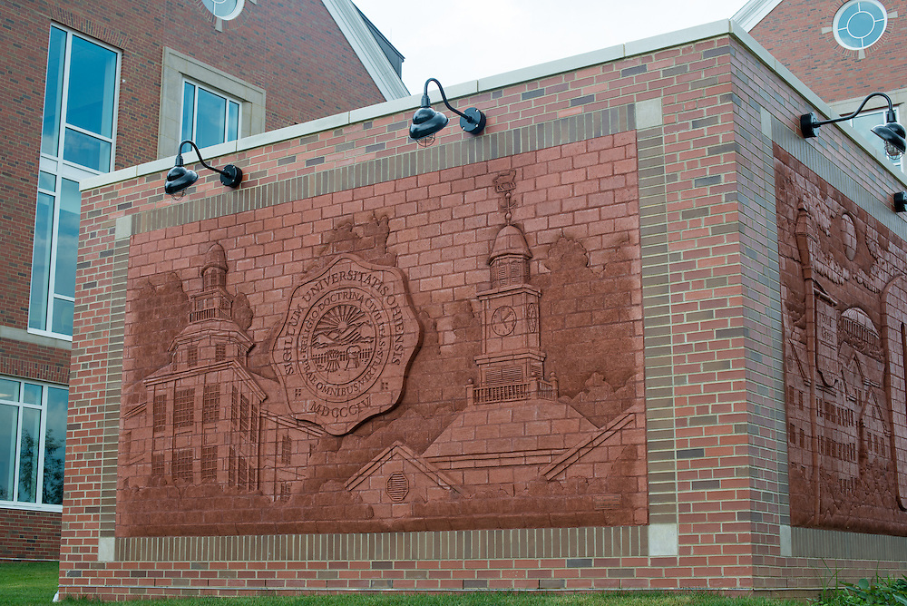 Brick Mural, South Green, Residence Hall
