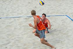 20-07-2018 NED: CEV DELA Beach Volleyball European Championship day 6<br /> Dirk Boehlé #1 NED, Steven van de Velde #2 NED