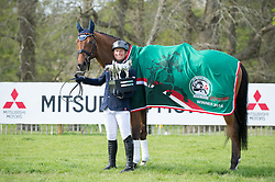 Jung Michael, (GER), La Biosthetique Sam FBW with the Rolex Grand Slam Trophy<br /> CCI4* - Mitsubishi Motors Badminton Horse Trials 2016<br /> © Hippo Foto - Jon Stroud<br /> 06/05/16