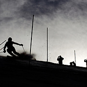 Corinne Suter, Switzerland, in action during the Women's Slalom event during the Winter Games at Cardrona, Wanaka, New Zealand, 24th August 2011. Photo Tim Clayton...