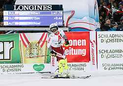 "29.01.2019, Planai, Schladming, AUT, FIS Weltcup Ski Alpin, Slalom, Herren, 2. Lauf, im Bild Albert Popov (BUL) // Albert Popov of Bulgaria reacts after his 2nd run of men's Slalom ""the Nightrace"" of FIS ski alpine world cup at the Planai in Schladming, Austria on 2019/01/29. EXPA Pictures © 2019, PhotoCredit: EXPA/ Martin Huber"