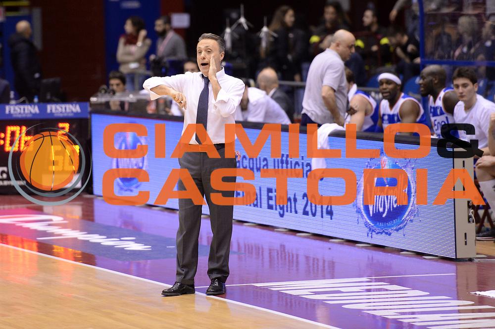 DESCRIZIONE : Milano Coppa Italia Final Eight 2014 Qualificazione Enel Brindisi Umana Venezia<br /> GIOCATORE : Piero Bucchi<br /> CATEGORIA : coach ritratto<br /> SQUADRA : Enel Brindisi Umana Venezia<br /> EVENTO : Beko Coppa Italia Final Eight 2014<br /> GARA : Enel Brindisi Umana Venezia<br /> DATA : 07/02/2014<br /> SPORT : Pallacanestro<br /> AUTORE : Agenzia Ciamillo-Castoria/C.De Massis<br /> Galleria : Lega Basket Final Eight Coppa Italia 2014<br /> Fotonotizia : Milano Coppa Italia Final Eight 2014 Qualificazione Enel Brindisi Umana Venezia<br /> Predefinita :