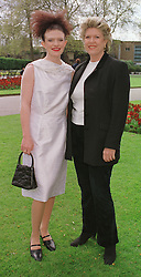 Left to right, Debutante MISS OLIVIA BERNARD and her mother LADY BERNARD, at a fashion show in London on 11th April 1999.MPX 20