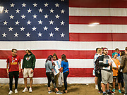 08 SEPTEMBER 2019 - AMES, IOWA: People at Iowa State University in Ames wait for US Senator Bernie Sanders (Ind-VT) to arrive at a campaign event. Sanders is campaigning to be the Democrats' nominee for the 2020 US Presidential election. Iowa holds the first in the country selection contest with state caucuses on Feb. 3, 2020.        PHOTO BY JACK KURTZ