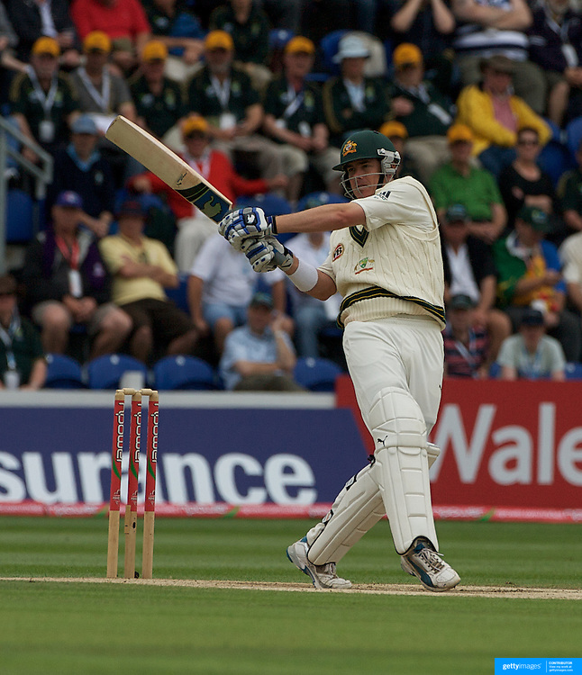 Marcus North batting during the England V Australia  Ashes Test series at Cardiff, Wales, on Saturday, July 11, 2009. Photo Tim Clayton.