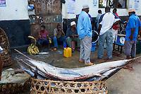 Tanzanie, archipel de Zanzibar, ile de Unguja (Zanzibar), ville de Zanzibar, quartier Stone Town classe patrimoine mondial UNESCO, le marche aux poissons // Tanzania, Zanzibar island, Unguja, Stone Town, unesco world heritage, fish market