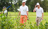 BEETSTERZWAAG - Fernand Osther (l)  wint de finale van  Rob van de Vin (r). Het Nederlands Kampioenschap Matchplay 2011 op Lauswolt . Copyright Koen Suyk