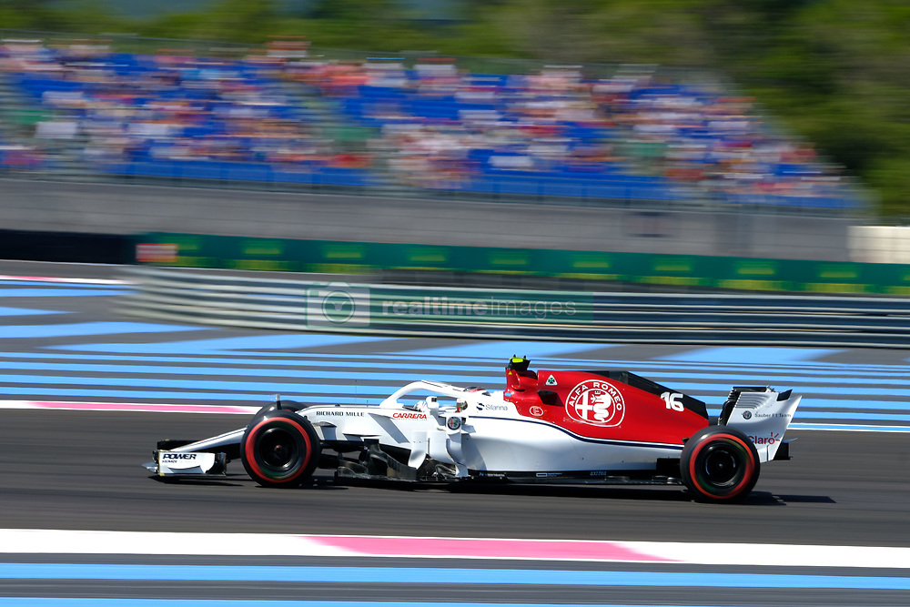 June 22, 2018 - Le Castellet, Var, France - Sauber Driver CHARLES LECLERC (FRA) in action during the Formula one French Grand Prix at the Paul Ricard circuit at Le Castellet - France (Credit Image: © Pierre Stevenin via ZUMA Wire)