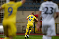 Senijad Ibricic of Domzale celebrates goal during football match between NK Domzale and NK Rudar in Round #2 of Prva liga Telekom Slovenije 2018/19, on April 29, 2018 in Sports Park Domzale, Domzale, Slovenia. Photo by Urban Urbanc / Sportida