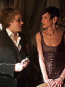 FLORIAN ZELLER; AMY FINE COLLINS, Dinner for Jacqueline de Ribes after Legion d'honneur award. 50 Rue de la Bienfaisance. Paris. *** Local Caption *** -DO NOT ARCHIVE-© Copyright Photograph by Dafydd Jones. 248 Clapham Rd. London SW9 0PZ. Tel 0207 820 0771. www.dafjones.com.<br /> FLORIAN ZELLER; AMY FINE COLLINS, Dinner for Jacqueline de Ribes after Legion d'honneur award. 50 Rue de la Bienfaisance. Paris.