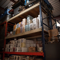 Pamphlets with bible verses sit in the warehouse of the Aggressive Christianity Missions Training Corps (ACMTC) headquarters in Fence Lake Feb. 27th, 2019.
