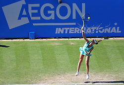 Johanna Konta of Great Britain in aciton - Mandatory by-line: Paul Terry/JMP - 24/06/2016 - TENNIS - Devonshire Park - Eastbourne, United Kingdom - Karolina Pliskova v Johanna Konta - Aegon International Eastbourne
