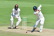 Kyle Abbott of Hampshire batting during the Specsavers County Champ Div 1 match between Hampshire County Cricket Club and Surrey County Cricket Club at the Ageas Bowl, Southampton, United Kingdom on 11 June 2018. Picture by Graham Hunt.