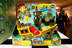 © Licensed to London News Pictures. 31/10/2012. London, UK. A Mattel 'Jake and the Neverland Pirates' 'Pirate Ship Bucky' (RRP GB£49.99) is seen at a Toy Retailers Association (TRA) fair in London today (31/10/12) as the organisation released its 13 Dream Toys for Christmas 2012. Photo credit: Matt Cetti-Roberts/LNP