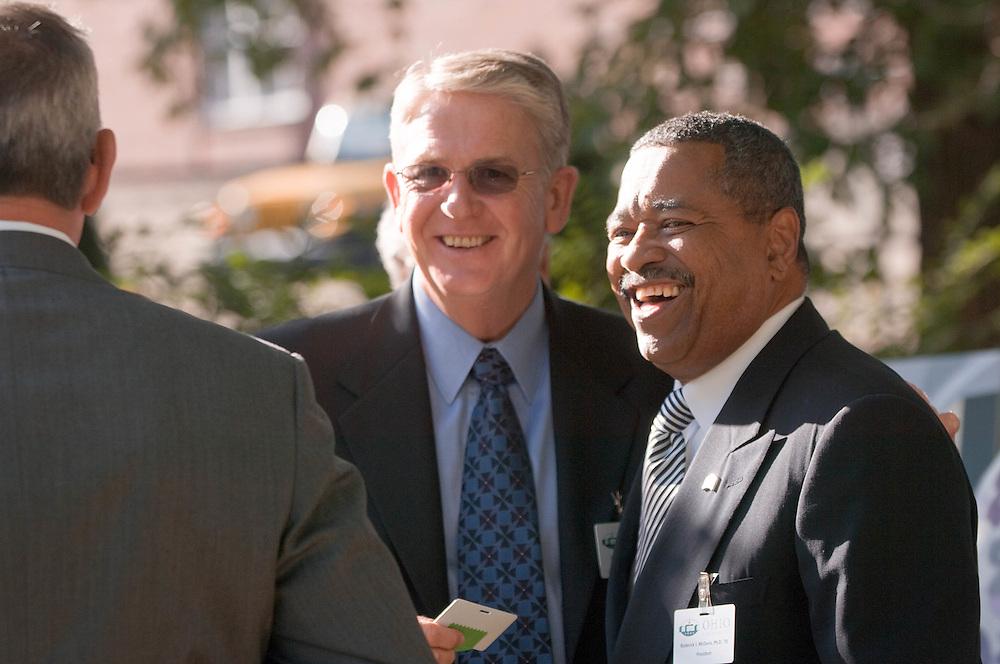 18414Academic & Research Center Groundbreaking September 29, 2007...Rick Vincent & Pres McDavis