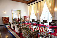 The diplomatic reception room of<br /> The Presidential Palace in Saigon.  <br /> <br />  photo by Dennis Brack