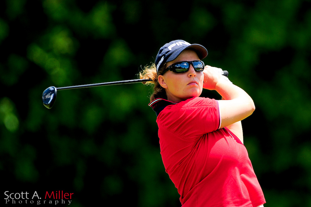 Perrine Delacour during the final round of the Symetra Tour's Guardian Retirement Championship at Sara Bay in Sarasota, Florida April 28, 2013. ..©2013 Scott A. Miller
