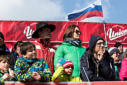 Supporters during Men Giant Slalom race of FIS Alpine Ski World Cup 54th Vitranc Cup 2015, on March 14, 2015 in Kranjska Gora, Slovenia. Photo by Vid Ponikvar / Sportida