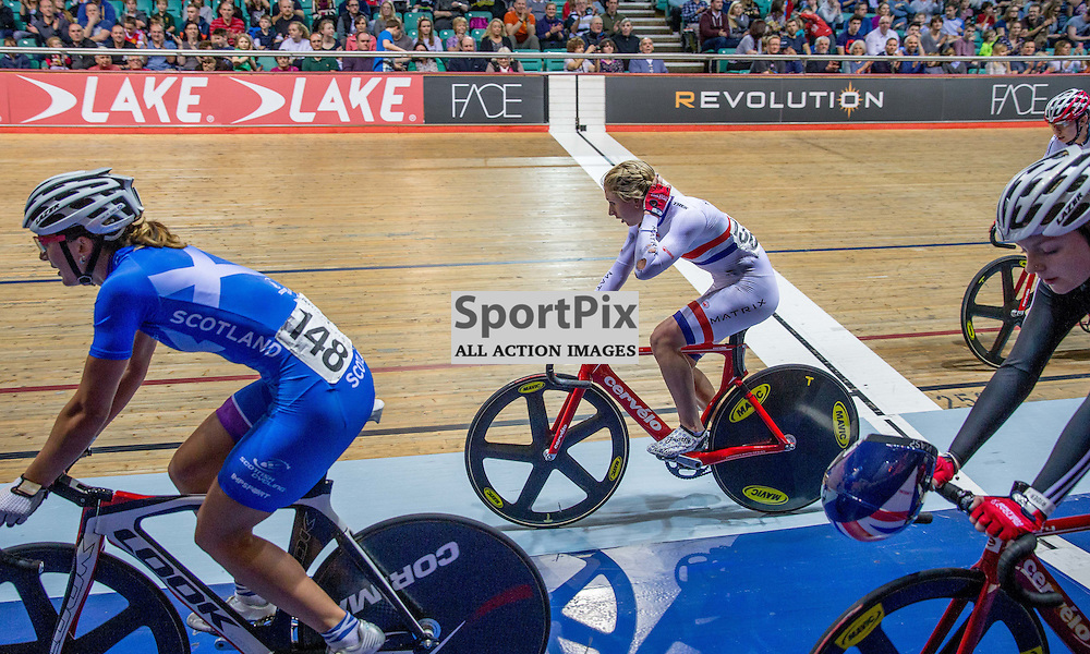 Laura Trott warms down after winning the Elimination Race during the Revoultion Series 2015/6 Round 5 Manchester, on 2 January 2016 ( (Photo by Mike Poole - SportPix)