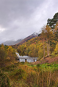 Potrait view of the upper reaches of Glen Affric.