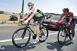 July 14, 2018 - Amiens Metropole, FRANCE - Belgian Julien Vermote of Dimension Data pictured in action during the eighth stage of the 105th edition of the Tour de France cycling race, from Dreux to Amiens Metropole (181 km), in France, Saturday 14 July 2018. This year's Tour de France takes place from July 7th to July 29th. BELGA PHOTO YORICK JANSENS (Credit Image: © Yorick Jansens/Belga via ZUMA Press)