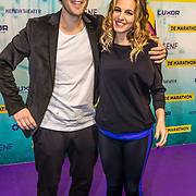 NLD/Rotterdam/20170319 - inloop De Marathon de Musical, Paul Rabbering en partner Krystl