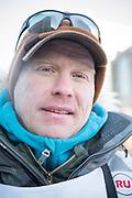 Mats Pettersson vid den ceremoniella starten av 2017 Iditarod, Anchorage, Alaska, USA