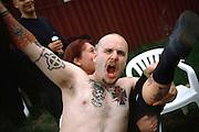 Members of  Blood & honnour displays his tattoos Nazis..